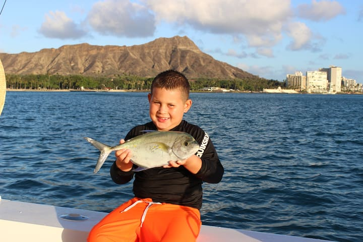 Guest fishing on Ho'okipa/Waikiki - Additional Charge