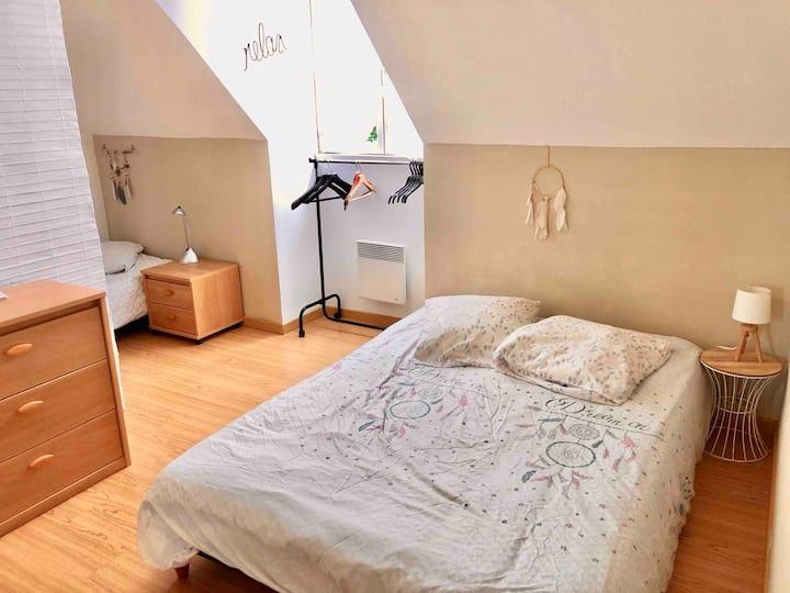 Chambre avec TV et WIFI près de Breteuil (60120)