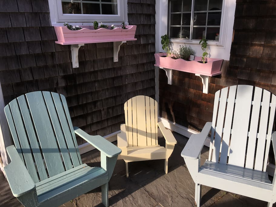 Lounge in the Adirondack chairs made by Grandpa and enjoy the aromas from the kitchen.