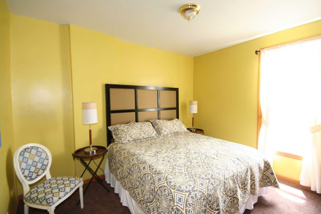 #1 Bedroom has King size premium mattress