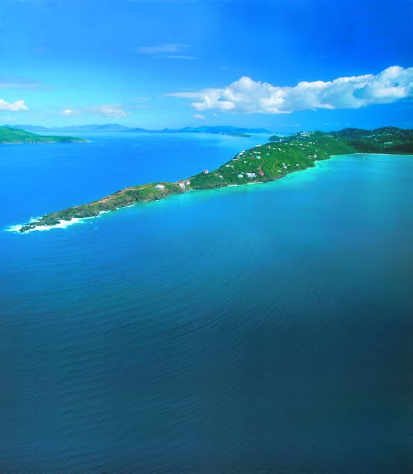 Peterborg peninsula overlooks Magen's Bay Beach, one of the world's most beautiful beaches...and just minutes from Fairwinds Villa.