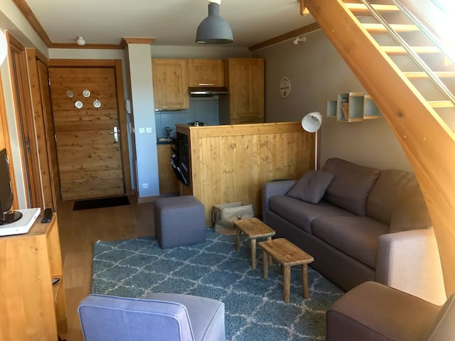 Duplex Terrasse Vue Pistes à 5mn Piscine Hammam - Le Monêtier-les-Bains - Wohnung