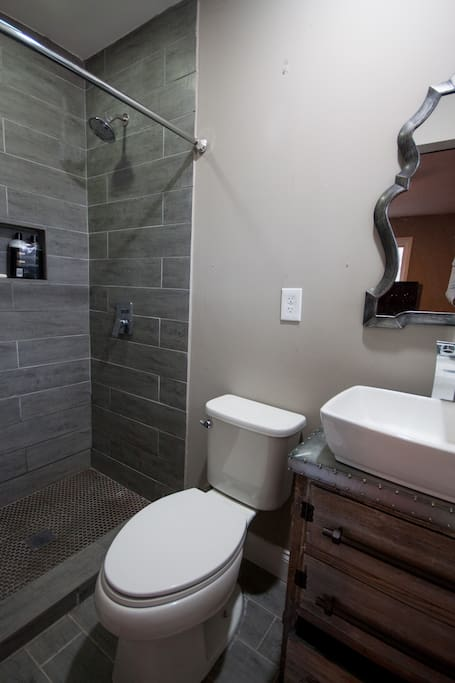 Stone Shower in Private Bathroom