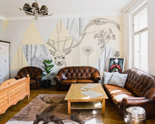 Oh Deer! Spacious Studio Vyshehrad
