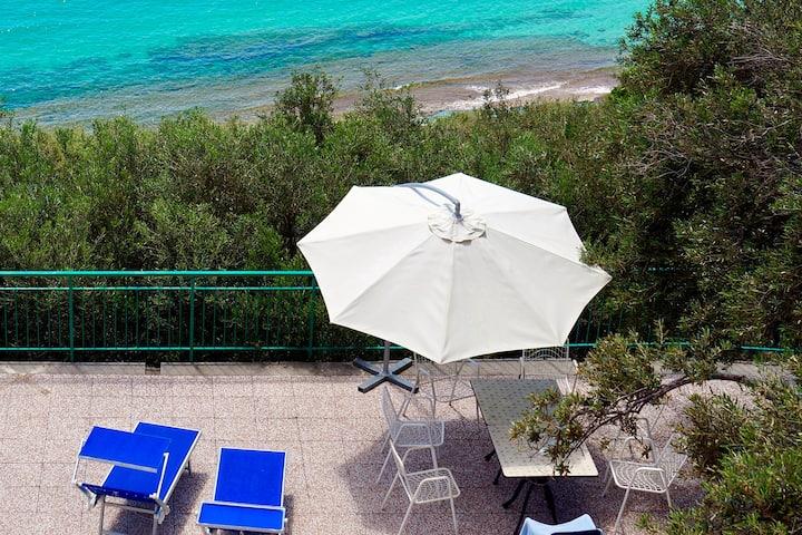 Una splendida terrazza sul mare ligure