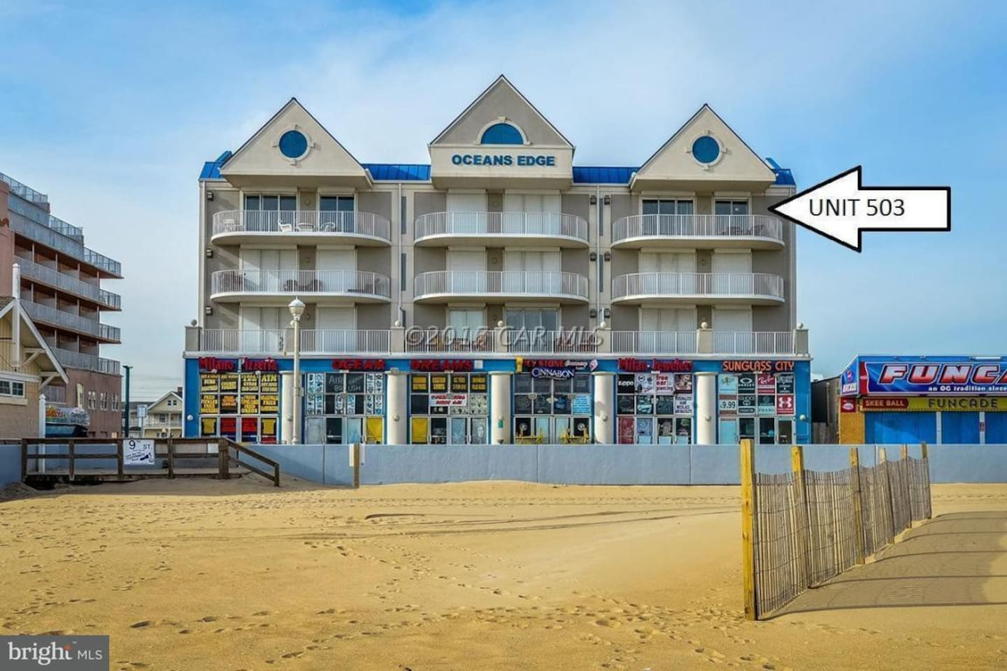 Direct Ocean Front Top Floor Corner Unit right on top of the World Famous Boardwalk Amazing Views