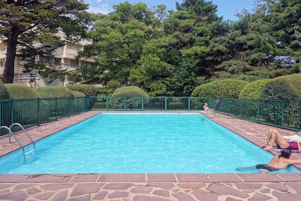 Pool of the Residence. Piscine de la résidence.