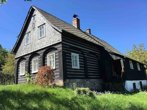 Cosy timber cottage near Bohemian Switzerland