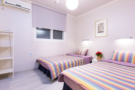OH! BLUE guesthouse is newly opened in October 2015.    We are located in Hongik university(hondae), one of the hottest places in Seoul.