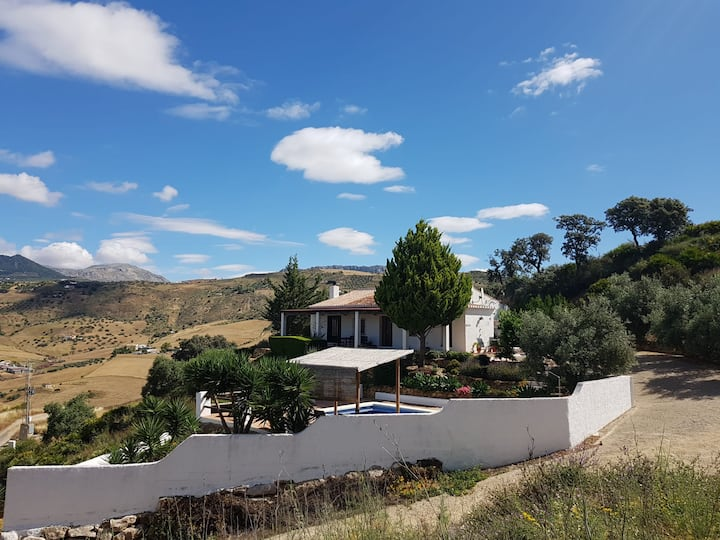Andalucian finca with private pool, stunning views