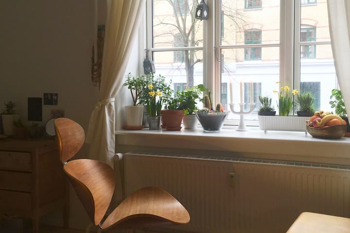 Studio apartment +bikes! Splendid local experience - Kopenhagen - Appartement