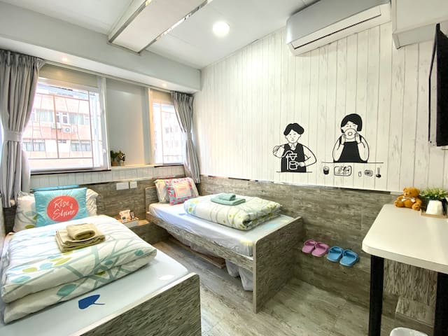 <Monthly$5800!> Twin/Double Room in Tsim Sha Tsui
