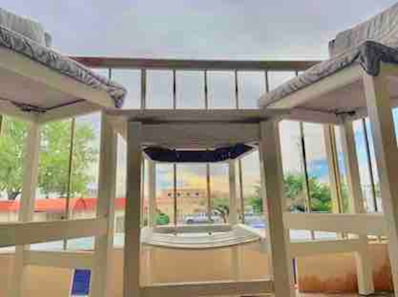 From your private balcony enjoy your meals or watch the sun set over Albuquerque on our new custom made patio furniture.