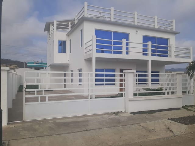 The White house on Cayo beach
