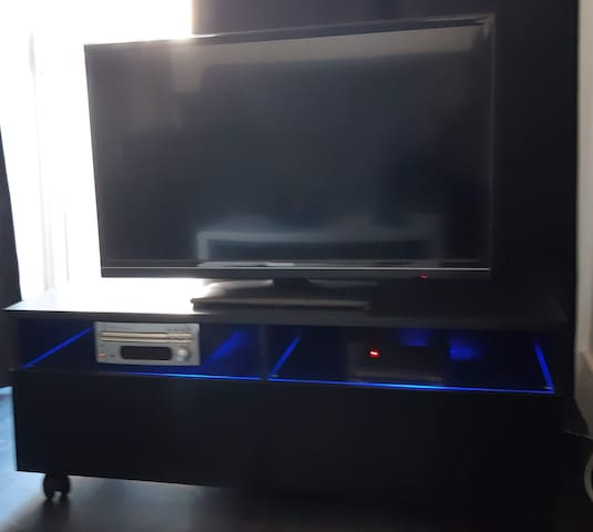 Cable TV, game and music corner