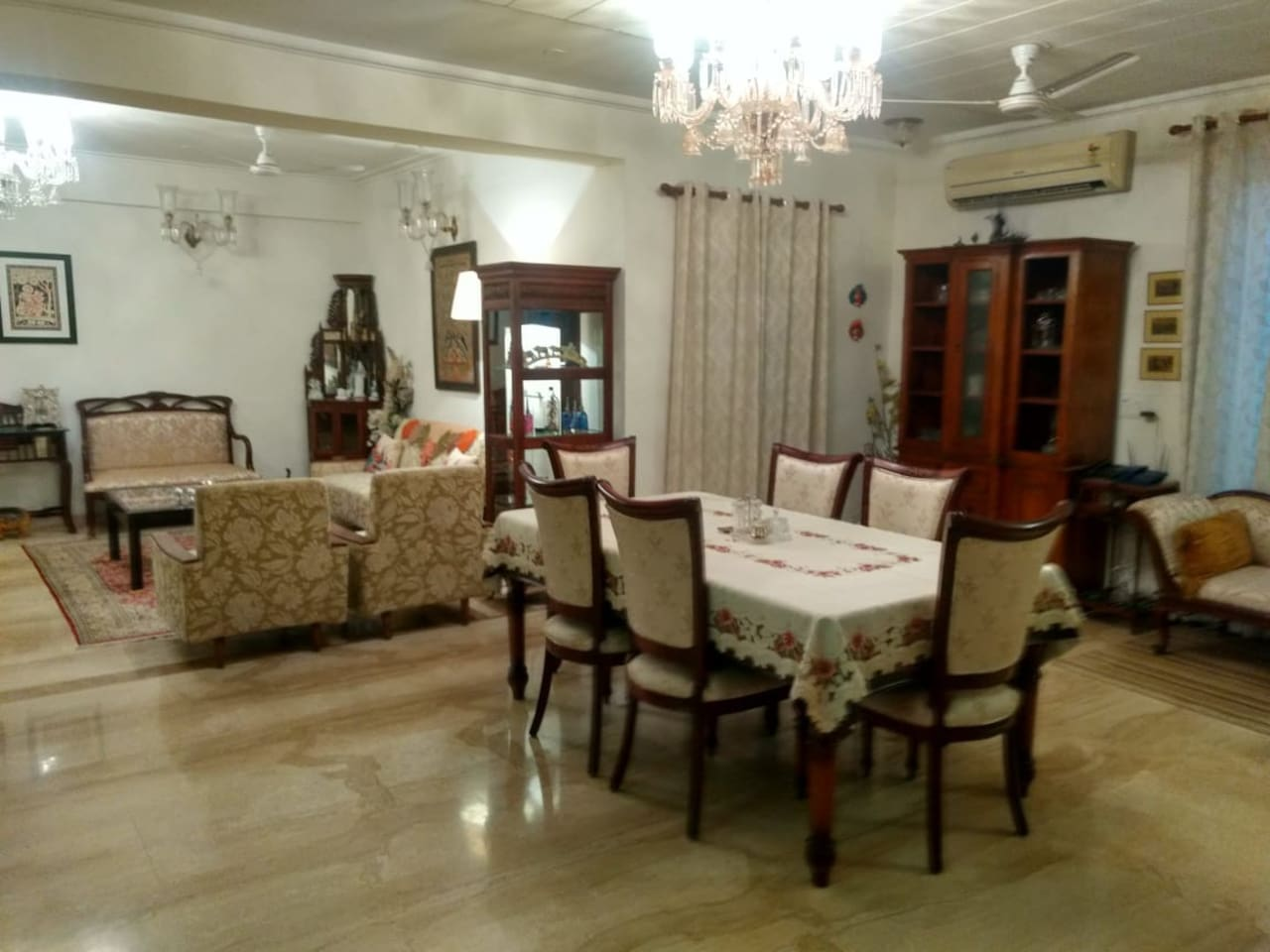 Dinning & Living Area adjoining the room