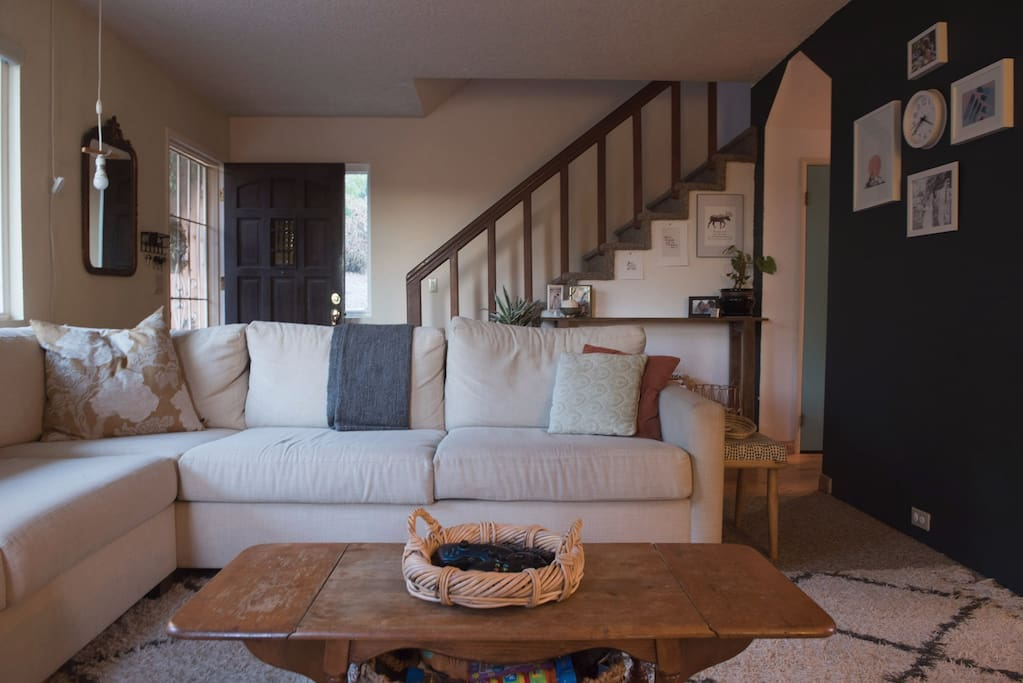 Living Room and Entry Way to Home