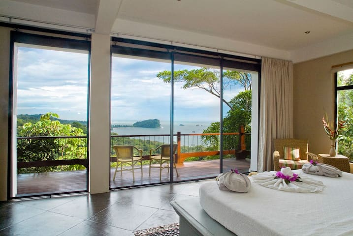 Master bedroom view is amazing and monkeys love it too