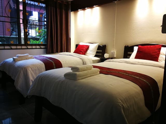 Hotel grade bedding, Duck feather pillows. And bedsheets products made from bamboo fiber. Feel cool and helps you relax  throughout the night.