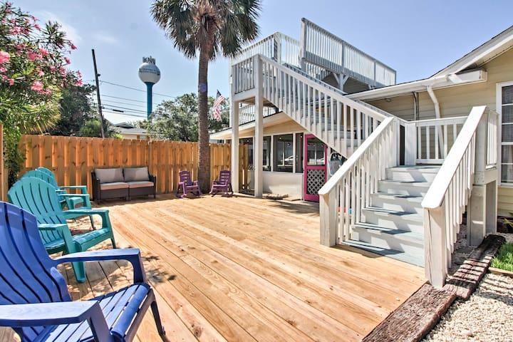 Tybee Island Home w/Decks & Porch - Walk to Beach!