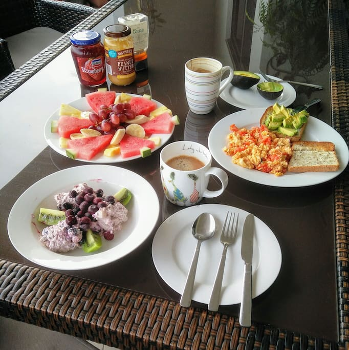 Thank you Sofia from Belgium for taking this lovely photo of your breakfast.  So pleased to meet you and Alex and that you enjoyed your stay at Chez Penni.