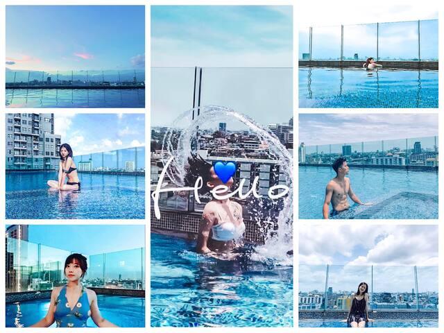 无边泳池,欣赏日落的绝佳之地 【Infinity pool, amazing place to enjoy the sunset】