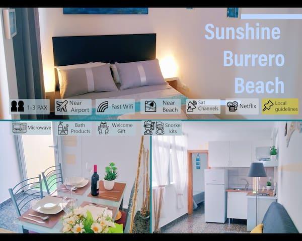 🐬 SunShine Burrero Beach  Apart. & Solarium