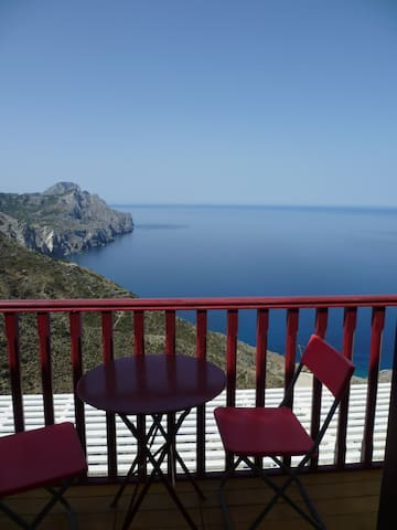 Stunning sea-view studio in Olympos (Anemos 1) - Olympos - Appartement