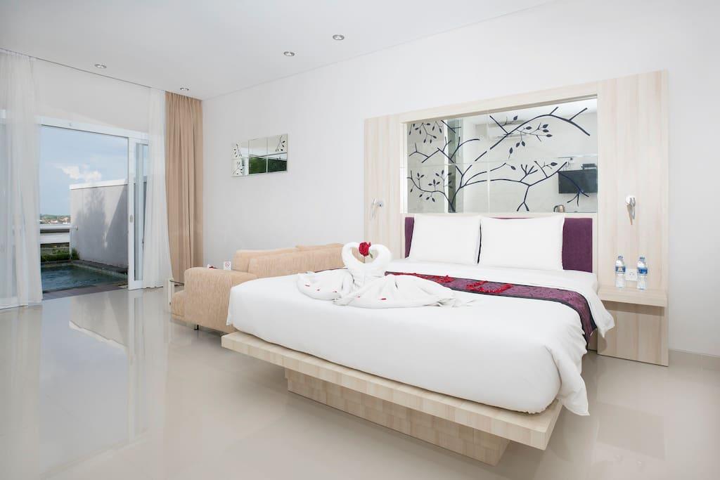 Bedroom with Honeymoon setup (on request)