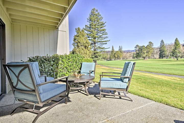 NEW! Lovely 1BR Napa Condo w/Patio on Golf Course!