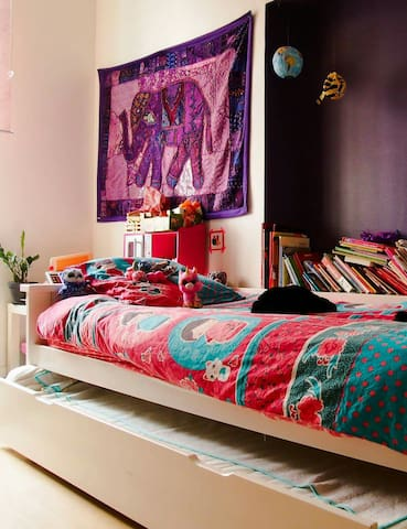 Chambre 2 - lit gigogne - soit 2 lits de 1 personne soit photo suivante 1lit de 2 personnes