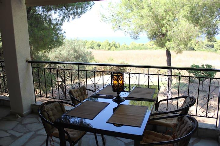 Garden house with a sea view