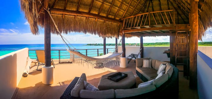 Penthouse on THE Best Akumal Beach! Infinite Pool!