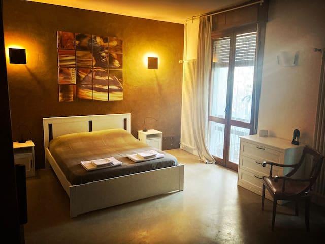 camera vaniglia: letto matrimoniale letto singolo bagno in camera