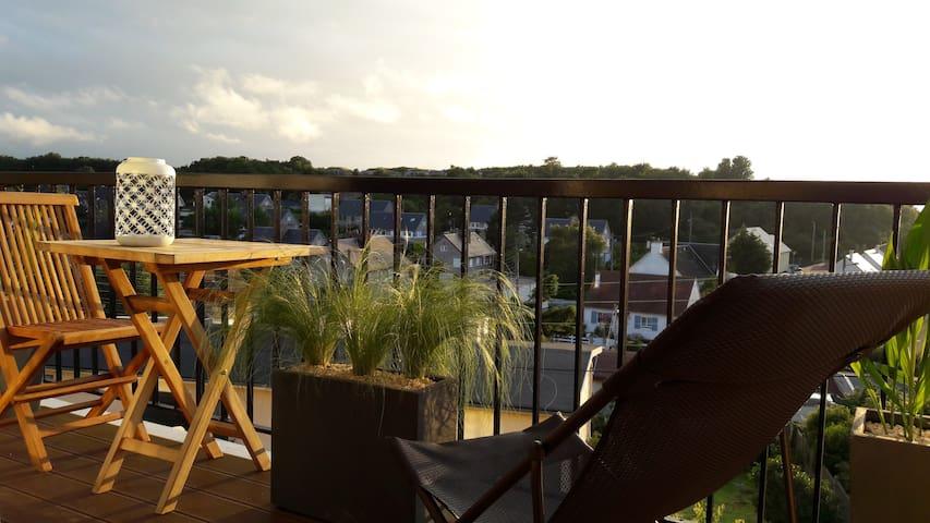 Appartement terrasse de 90m2, vue mer, au calme. - Le Havre - Appartement