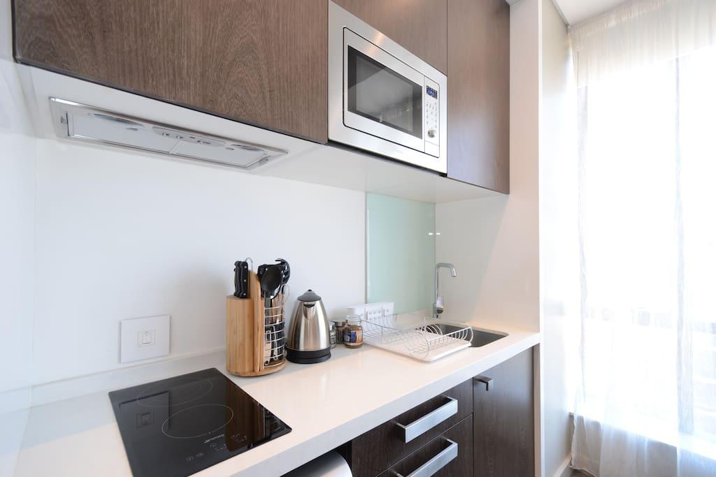 Kitchenette with Modern Appliances