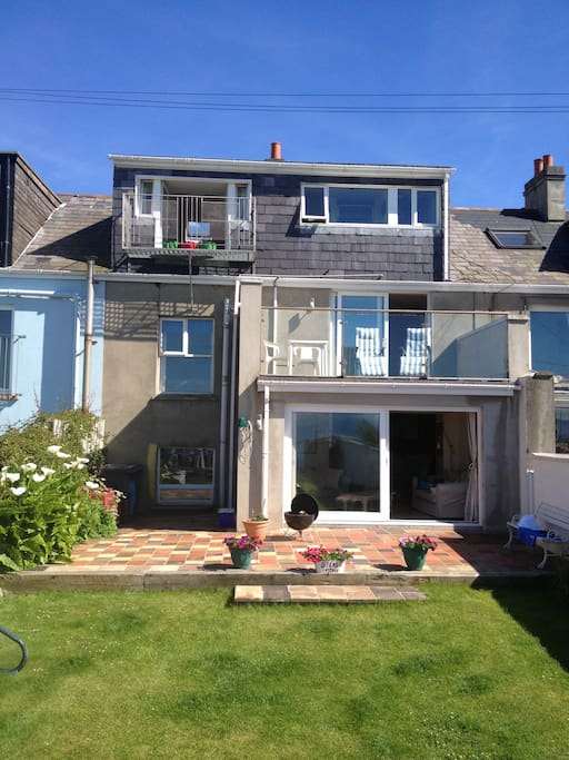 Rear elevation and back garden