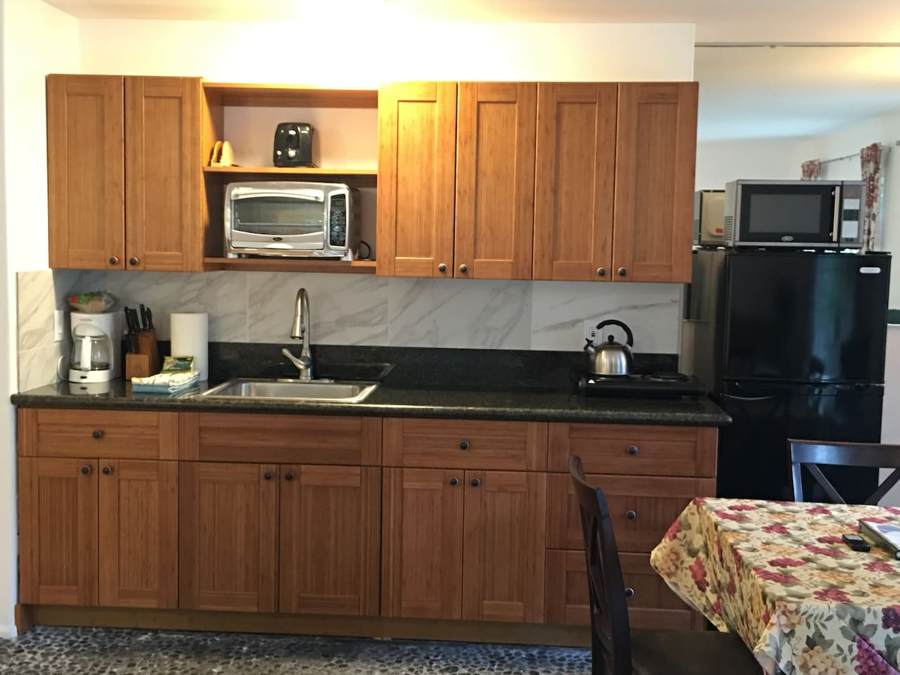 Recently remodeled kitchen and dining area.