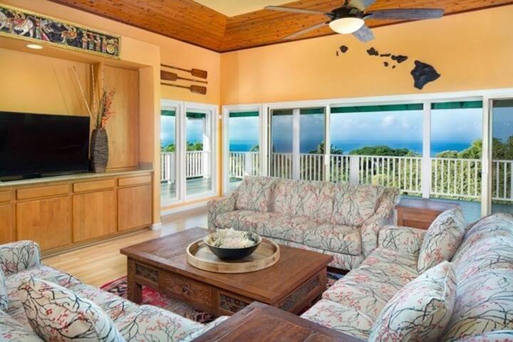 Huge Heavenly Home Hawaii with Ocean View - Kailua-Kona - Huis