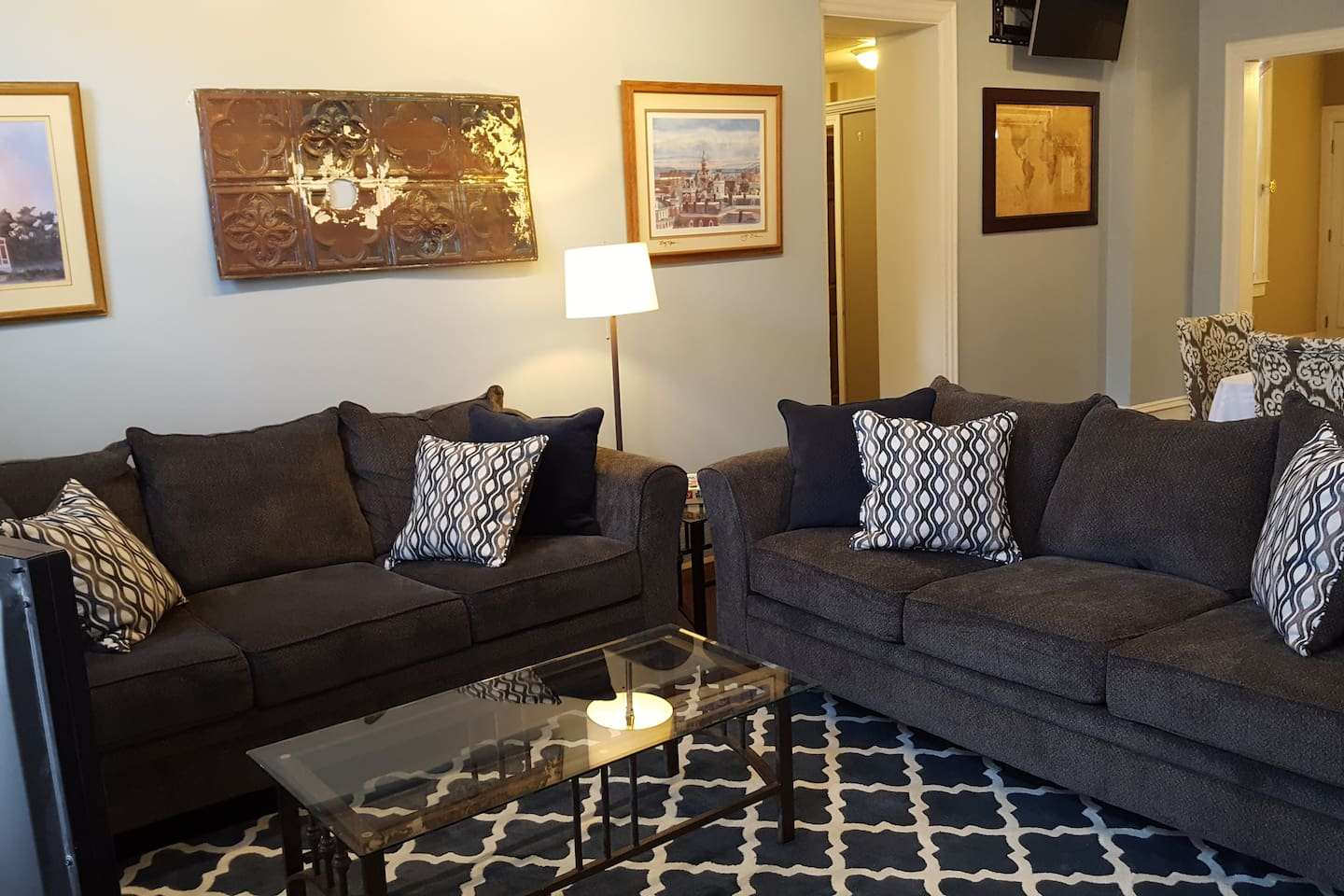 Comfiest couches ever. We got one for our house and went back and got two more for you!