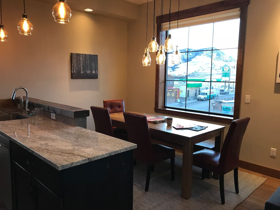 Dining Area With Views of Yellowstone Entrance Station