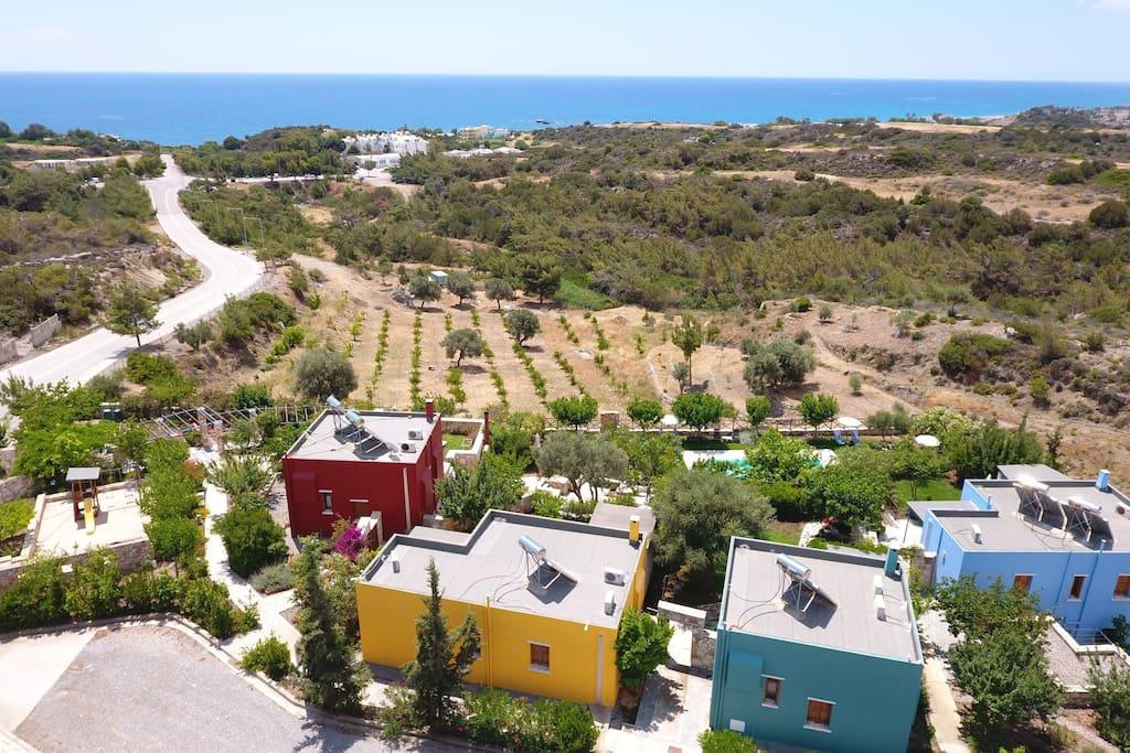 Sea view villa with pool few meters from beach ville - Riscaldamento alternativo in casa in affitto ...