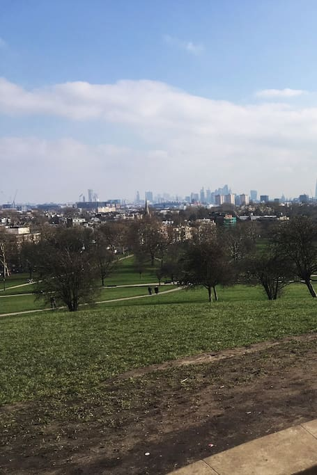 The unique view from Primrose Hill