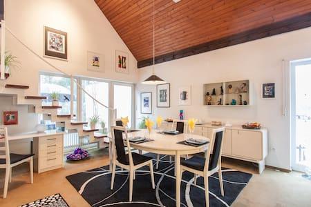 Mod. Zimmer mit Bad Benutzung u. WLAN-Zugang - Schwebheim - Haus