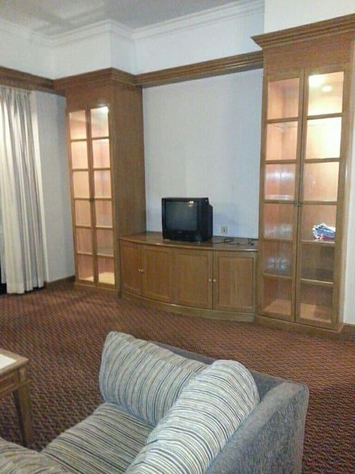 Hall. TV area