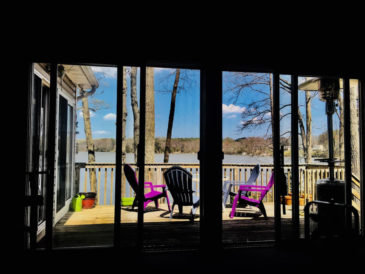 A view of the deck from Our living room.   Instagram and Facebook #246rowes