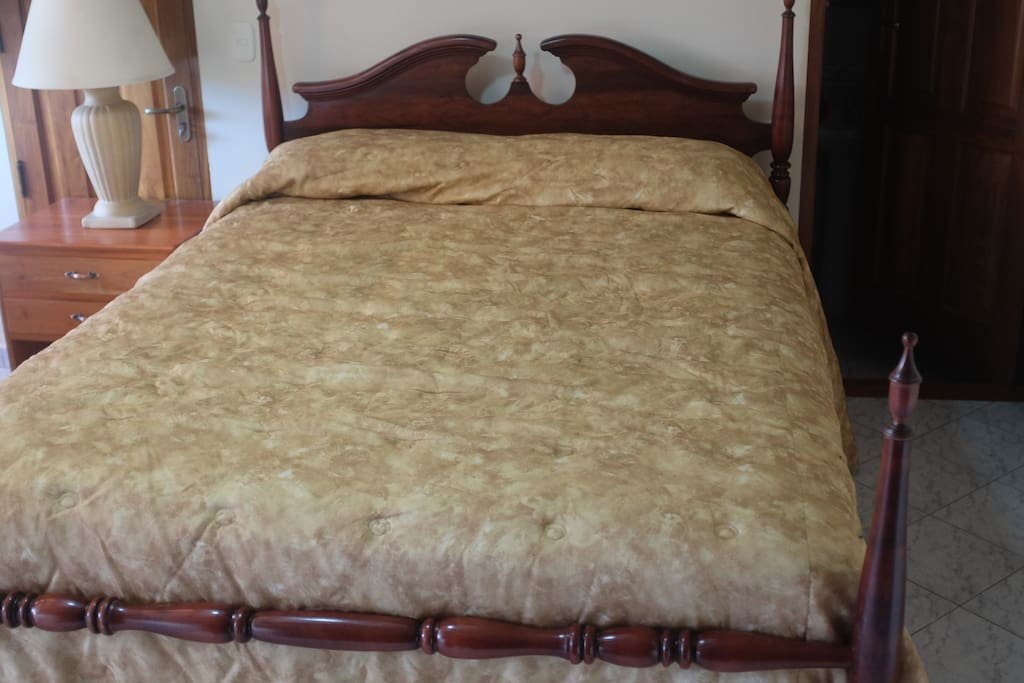 Comfortable queen size bed.