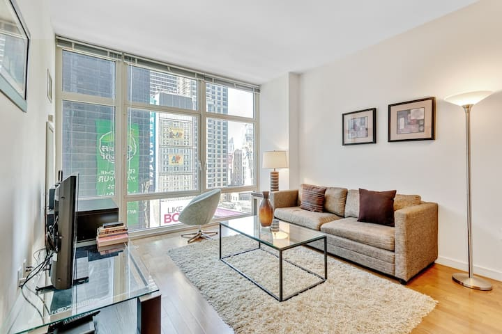 Theater district luxury one bedroom one bathroom