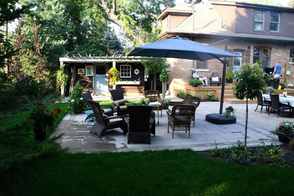 Enjoy our newly renovated backyard