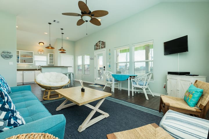 Dog-friendly oceanfront home with plenty of room and sea views